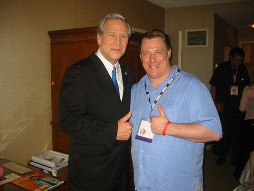 President Bush hangs with the Doctor