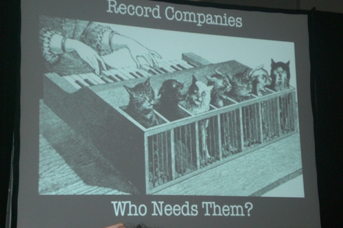 David Byrne Record Company Seminar Slide